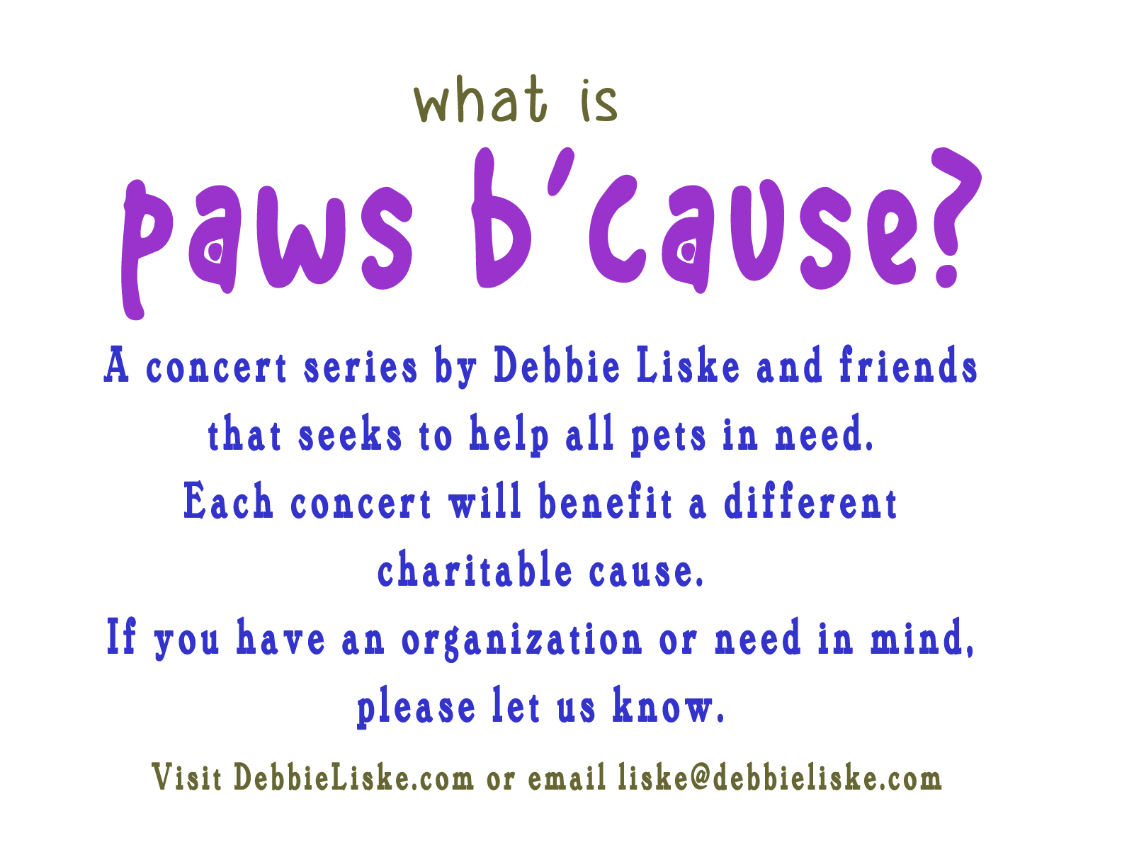 What Is paws b'cause?